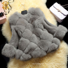 Best Seller Fashion Genuine Long Sleeve Fox Fur Coat For Winter