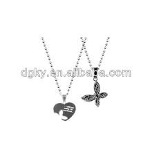 engraved couples pendants couples heart necklace