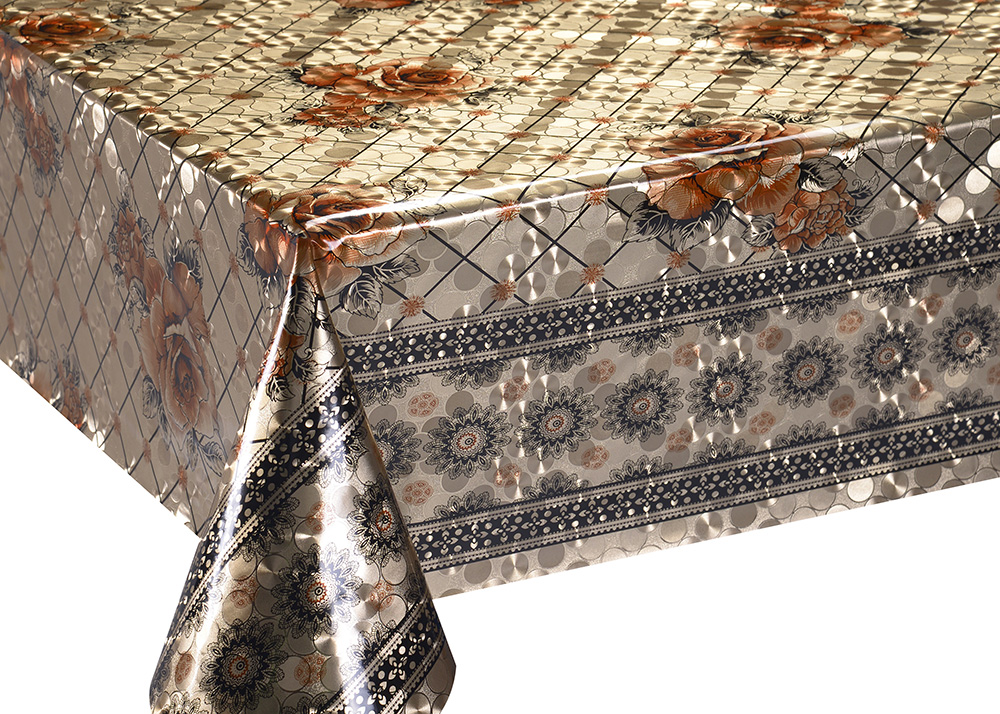 Mettalic Double Face Coating Tablecloth