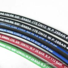 5/8 inch Durable SAE 100 R6  black wrap surface rubber oil hose
