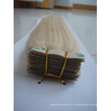 vente en gros brésilienne extension de cheveux de bande humaine / trame de la peau