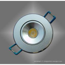 LED blanc / chaud 1W blanc plafonnier Spot pour la longue durée de vie du logement