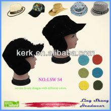 Russian Fashion Mens Black Hat , Warm Wool Hat ,lsw54