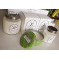Vela perfumada decorativa modificada para requisitos particulares de la soja en vidrio con la tapa del metal