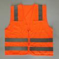 Американский Высокая видимость ANSI / ISEA107 оранжевый желтый молния отражающий жилет безопасности с карманами