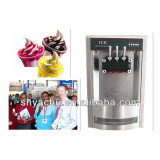 counter top ice cream machine with three flavors