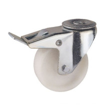 Bolt Hole Mounting Type White PP Wheel Industrial Caster (KIXX7-W)