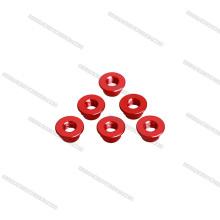 Tuercas cilíndricas de aluminio de color rojo AR15