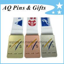 Médailles en gros de sports avec différentes couleurs de placage