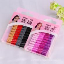 Дети 6см красочные волны сформированная Коробка Упакованные заколки для волос (JE1004)