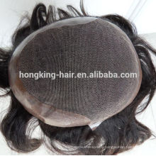 natural looking 100% human hair super fine swiss lace toupee