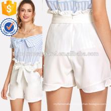 Belted Ruffle Shorts Manufacture Wholesale Fashion Women Apparel (TA3012B)