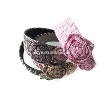 Crochet Flower Steel Woman Headband