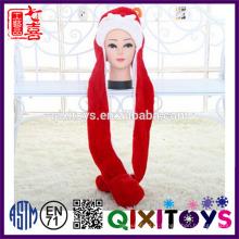 Venda quente engraçado chapéu de natal personalizado cabeça de animais chapéus de pelúcia interessantes enfeites de natal idéias