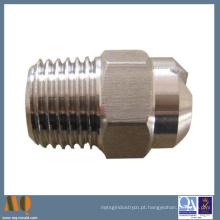 Parafuso de polegar de bronze knurled girado CNC