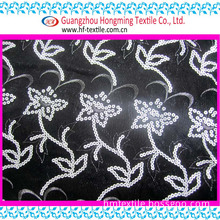 Sequin Flower Design Net Embroidery Fabric