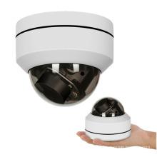 Super mini 4x zoom impermeável CCTV 5MP IP PTZ câmera dome com POE
