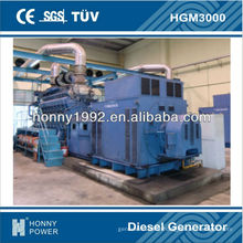 Génération d'énergie 2750KVA Googol 60Hz, HGM3000, 1800RPM