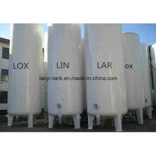 ASME Approved 15m3 Liquid Nitrogen Oxygen Argon CO2 Storage Tank with Valves