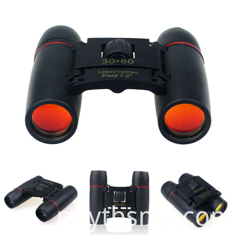 30x60 Day And Night Camping Travel Vision Spotting Scope 126m 1000m Optical Military Folding Binoculars Telescope