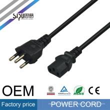 SIPU haute vitesse PC en gros AC câble d'alimentation électrique fil ordinateur câble Brésil cordon d'alimentation
