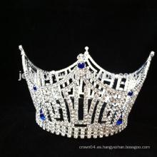 Corona nupcial del rhinestone popular de la manera al por mayor / tiara cristalina de la boda