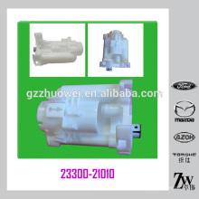 Piezas de automóvil japonés estándar TOYOTA Previa / Corolla / Camry (2.4L) Filtro de combustible 23300-21010