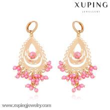 29710- Xuping European Design Perle Kronleuchter Ohrring Gold Modelle