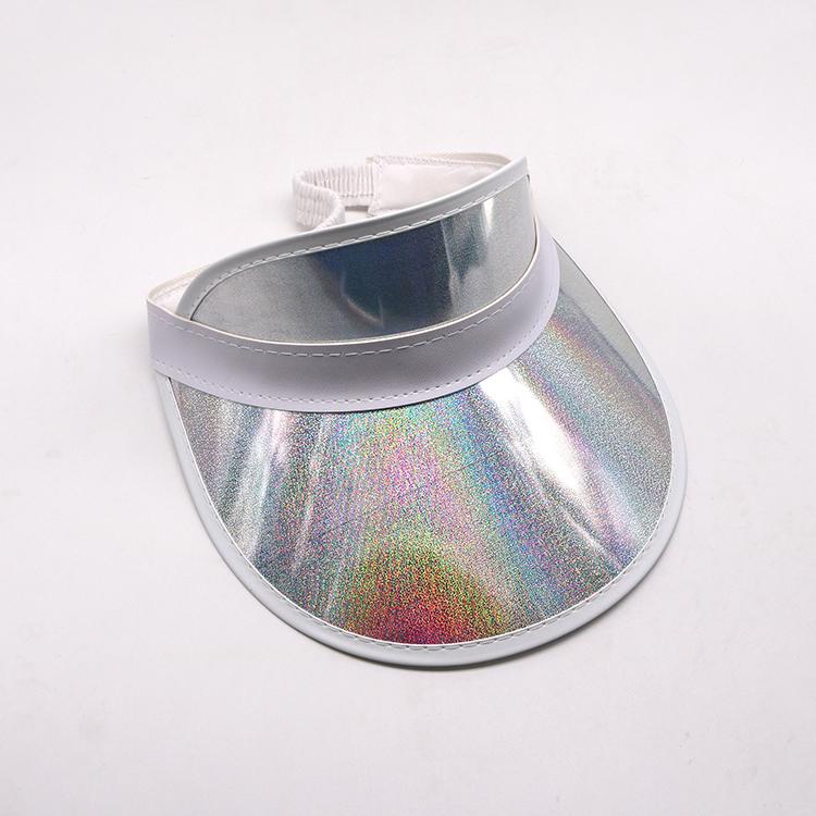 silver plastic pvc visor cap