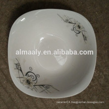 Square shape ceramic salad bowl