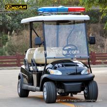 Chariot de golf électrique de 4 places Chariot de golf électrique de voiture de voiture de patrouille de 48v