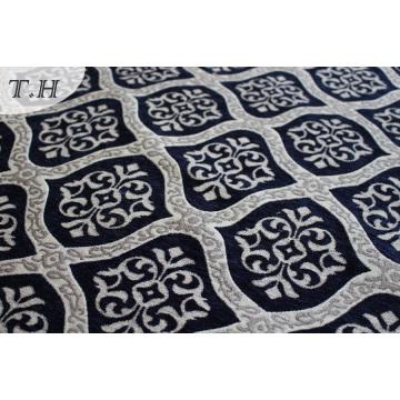 Tissu de canapé de meuble bleu Chenille Jacquard (fth31946)