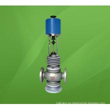 Válvula reguladora de flujo de desvío de tres vías eléctrica de alta temperatura (ZDLX)