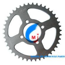 Piñón trasero de piezas de motocicleta para Ax100