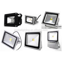 Alto brillo Impermeable LED inundación luz paisaje lámpara al aire libre Proyector 10W 20W 30W 50W 100W con UL
