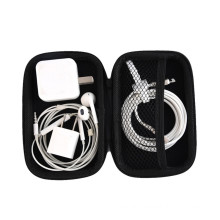 PU Portable Earphone Accessories Carrying Bags Black Earphone Bag Case Zipper Earbuds Headset Headphone Storage Box