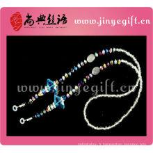 Accessoire de mode Bling Sparkly Crystal perle Lunettes sangle de cou