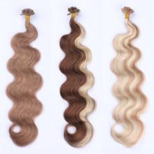 Factory Wholesale Body Wave Keratin U Tip Cuticle Aligned Hair Extension Human Hair Russian/Mongolian Remy Hair Virgin Hair