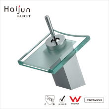 Haijun Hot Selling Item Thermostatic Chrome Brass Bathroom Basin Waterfall Faucet Tap