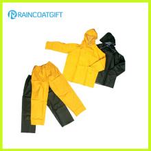 Dauerhafter PVC-Polyester PVC-Regenmantel T und Hosen