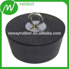 Diseño personalizado de forma redonda goma de silicona durable plug