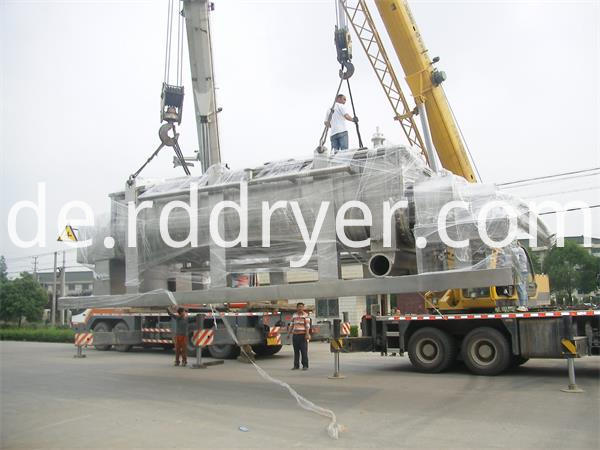 Stainless Steel Horizontal Sewage Sludge Hallow Paddle Drying Equipment