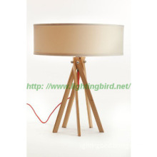 Hotel design modern table lights/wooden lamps with energy saving bulb