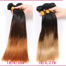 China Supplier Best Selling Ombre Color Human Hair Weft Indian Remy Hair Weave