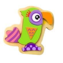Heißes Weihnachtsgeschenk-hölzernes Papagei-Puzzlespiel-Spielzeug für Kinder und Kinder