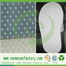 Tissu non-tissé antidérapant de pp de pantoufle