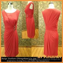 2016 реальные вечернее платье Красный короткий без бретелек вечернее платье невесты платье БЫБ-14099