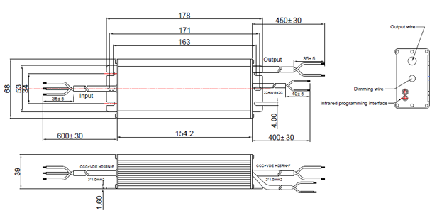 LDP-120R305 Mechanical drawing