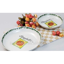 Haonai Elegant design decal ceramic pasta plate