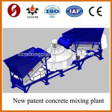 Vier Batch-Trichter MD1200 tragbare mobile Betonmischanlage